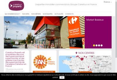 Site internet de Carrefour Property France