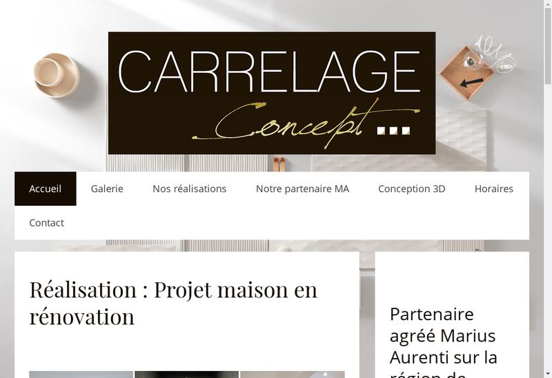 Capture d'écran du site de Carrelage Concept