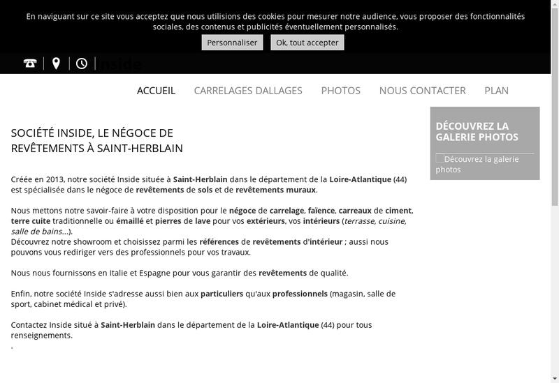 Capture d'écran du site de Inside