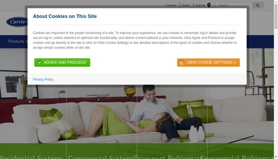 Site internet de Carrier Refrigeration Distribution France SAS
