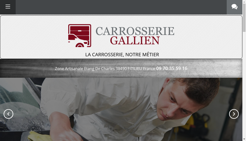 Capture d'écran du site de Carrosserie Gallien