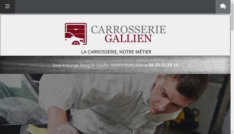Capture d'écran du site de Carrosserie Gallien
