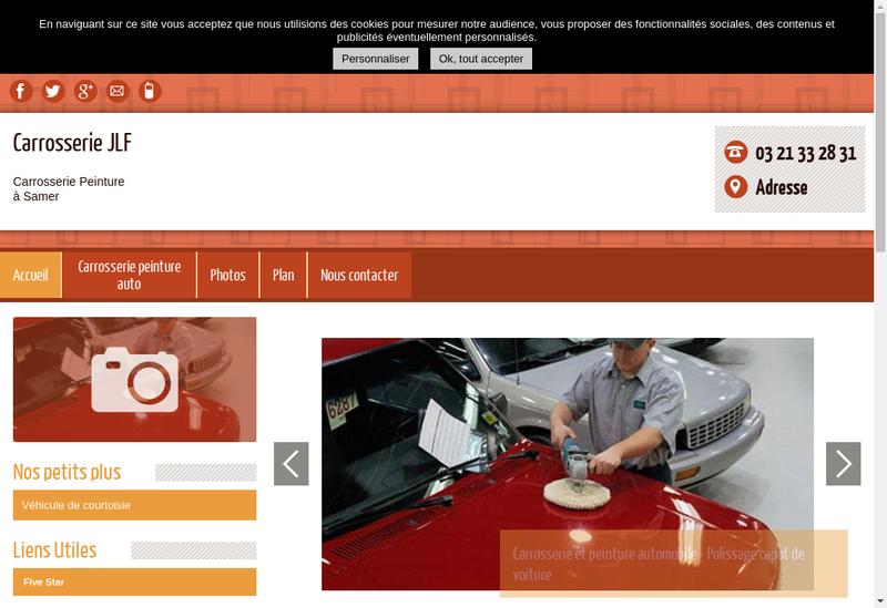 Capture d'écran du site de Carrosserie Jlf