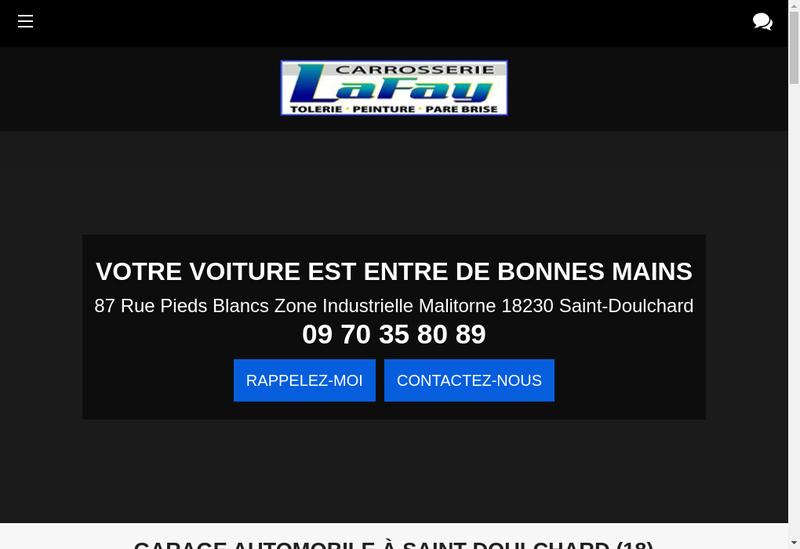 Capture d'écran du site de Carrosserie Lafay