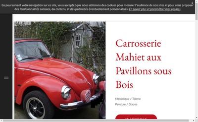 Site internet de Carrosserie Mahiet
