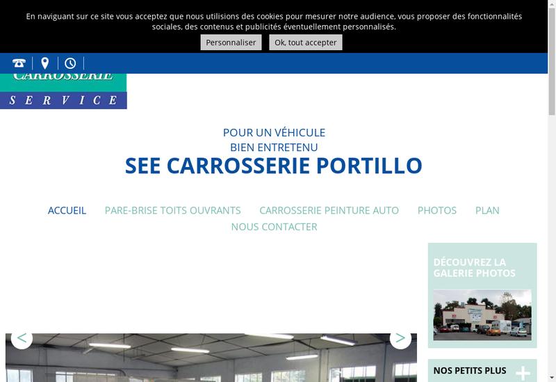 Capture d'écran du site de Carrosserie Portillo