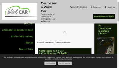 Capture d'écran du site de Garage Wink Car