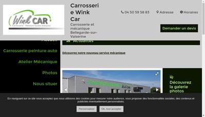 Site internet de Garage Wink Car