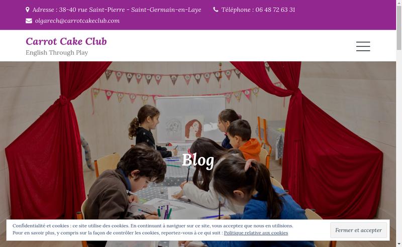 Capture d'écran du site de Carrot Cake Club