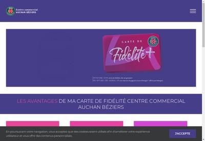 Site internet de Centre Commercial Auchan Beziesr