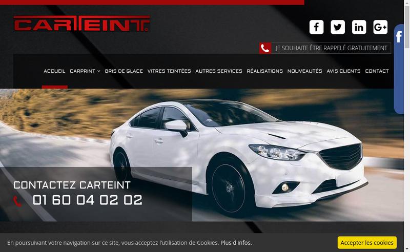 Capture d'écran du site de A+Glass
