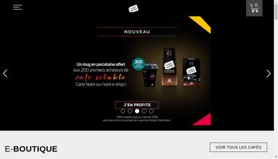 Capture d'écran du site de Carte Noire SAS