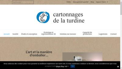 Site internet de Cartonnages de la Turdine
