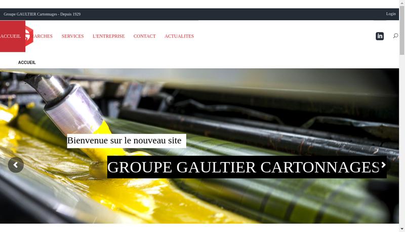 Capture d'écran du site de Cartonnages Gaultier