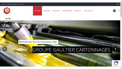 Site internet de Cartonnages Gaultier