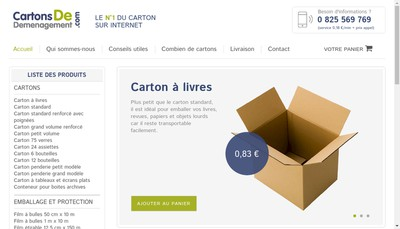 Site internet de Emballages et Cartons Emballagescartons Com E & C Cartonsdedemenag