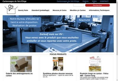 Site internet de Cartonnages du Val d'Orge
