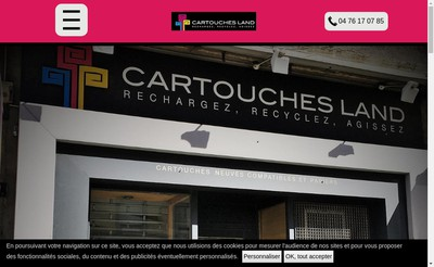 Site internet de Cartouches Land