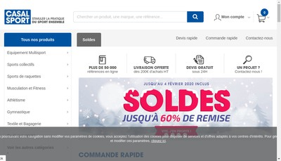 Site internet de Casal Sport