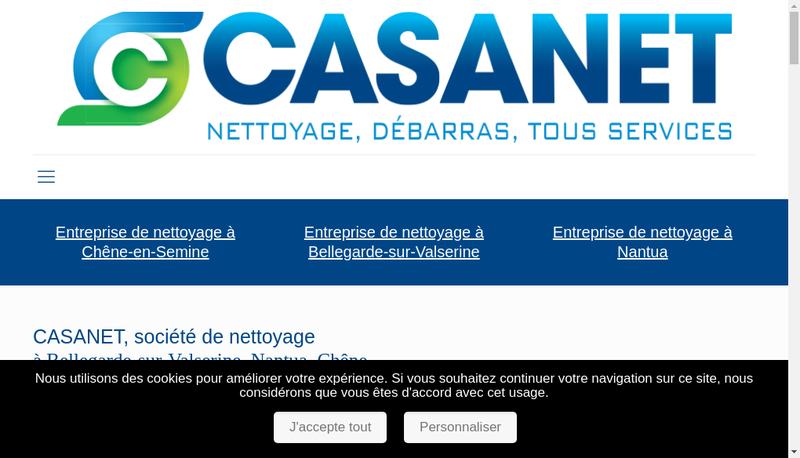 Capture d'écran du site de Casanet