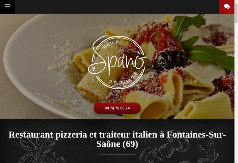 Capture d'écran du site de Casa Spano