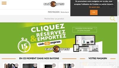 Site internet de Cash Express Groupe