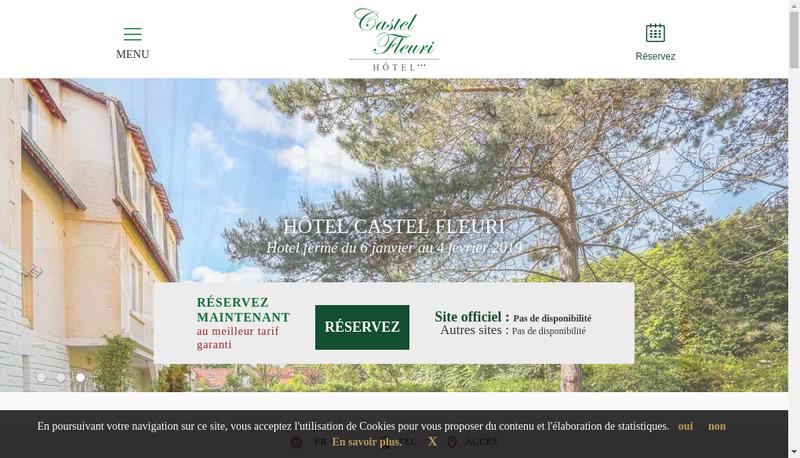 Capture d'écran du site de Castel Fleuri