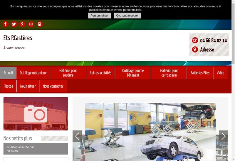 Capture d'écran du site de Casteres