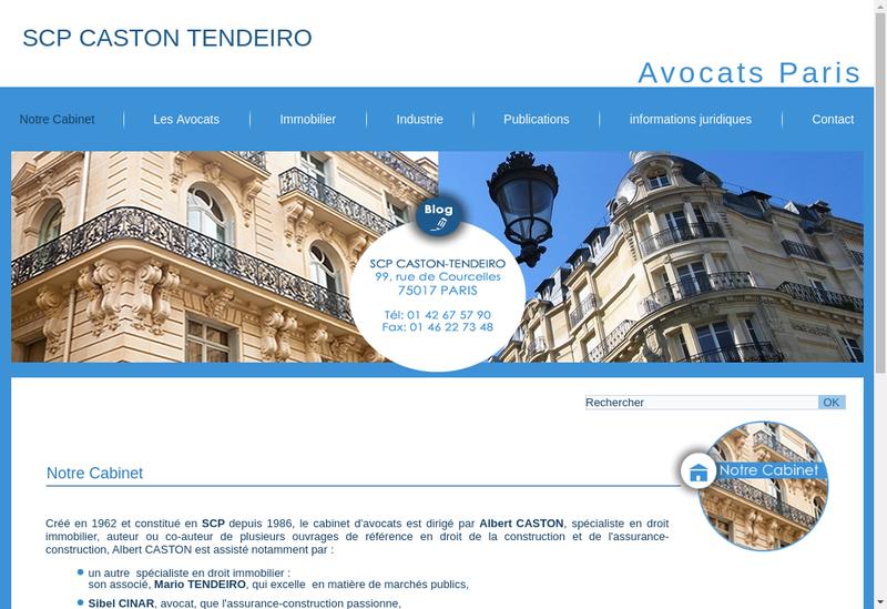 Capture d'écran du site de SCP Caston Tendeiro