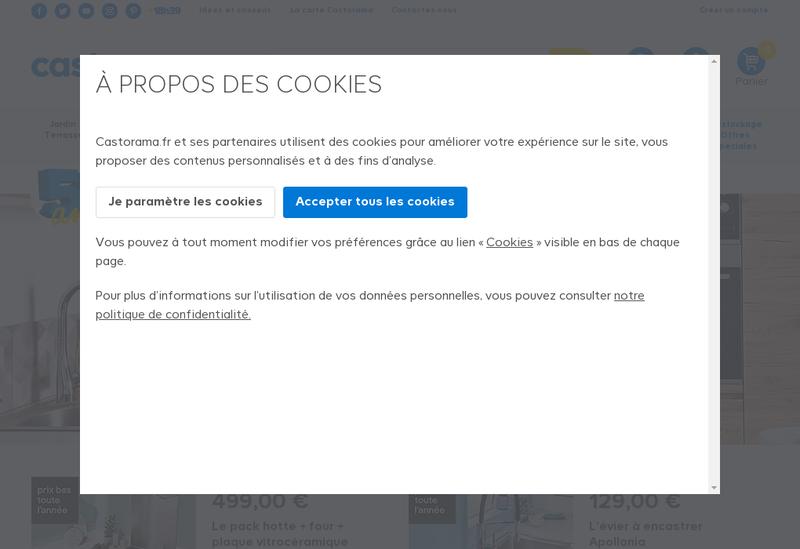 Capture d'écran du site de Castorama France