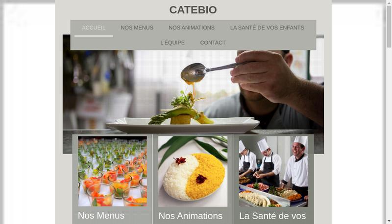 Capture d'écran du site de Catebio