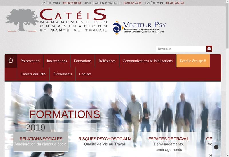 Capture d'écran du site de Conseil Analys Trav Etud Innov Social