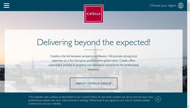 Capture d'écran du site de Catella France SAS