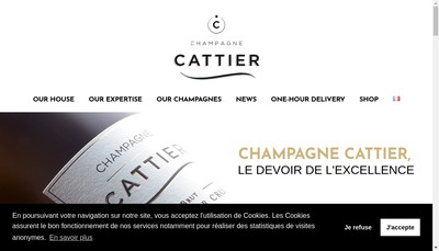 Site internet de Champagne Cattier
