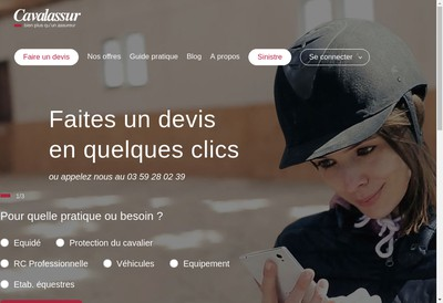 Site internet de Cavalassur Cavalcredit