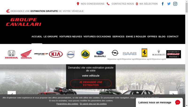 Capture d'écran du site de Ets Cavallari