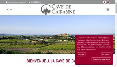 Site internet de Cave de Cairanne - Camille et Cecilia