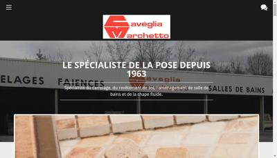 Capture d'écran du site de Etablissements Caveglia et Marchetto