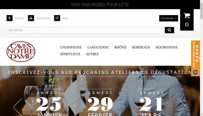 Site internet de Caves Notre Dame