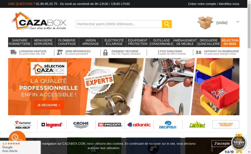 Capture d'écran du site de Cazabox