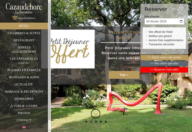 Capture d'écran du site de Cazaudehore la Forestiere