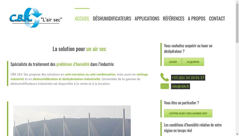 Capture d'écran du site de Cbk