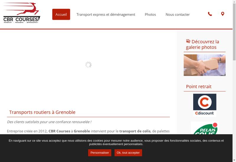 Capture d'écran du site de Cbr Courses