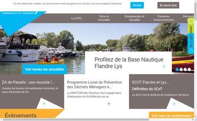 Site internet de Flandre Lys Conseil