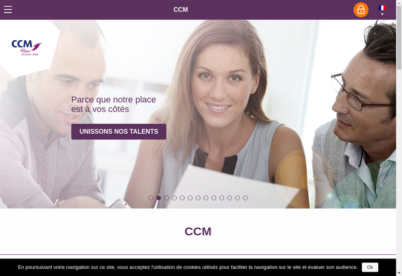Capture d'écran du site de Euro - Cooperation