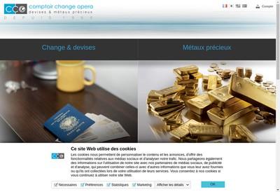 Site internet de Comptoir de Change Opera