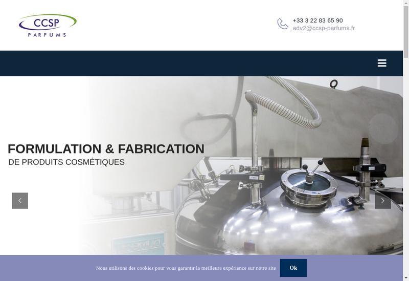 Capture d'écran du site de Ccsp Parfums