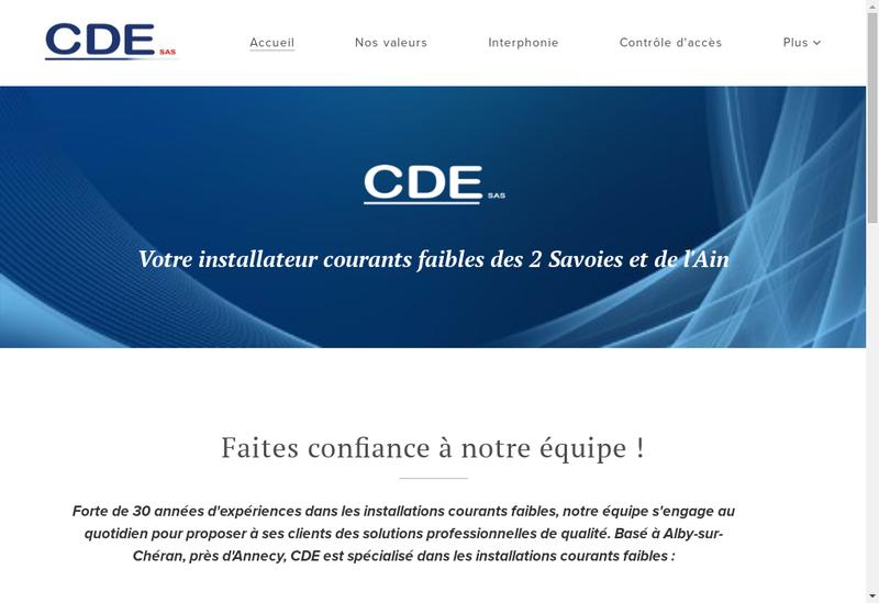 Capture d'écran du site de CDE Ou Prolutech