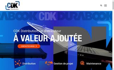 Site internet de Cdk Distribution