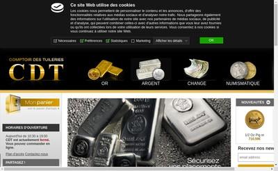 Site internet de Comptoir Monetaire de la Bourse